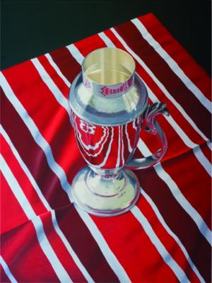 Red Stripe Silver Cup by Merrill Peterson