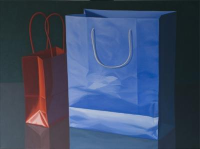 Red Blue Bags by Merrill Peterson