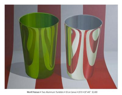 Two Aluminum Tumblers by Merrill Peterson