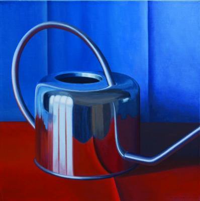 Red & Blue Water Can by Merrill Peterson