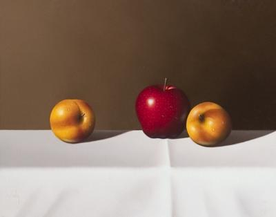 Nectarines & Apple by Clifford T. Bailey