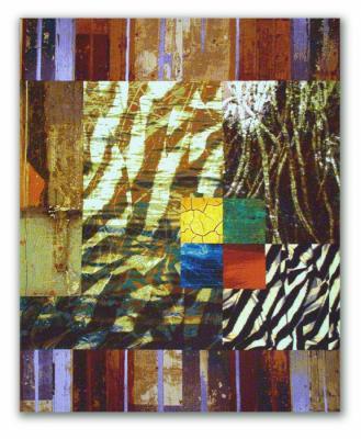Magic Carpet (Wall Series No. 5) by Michael James
