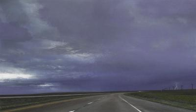 I-80 West Nebraska by Don Williams