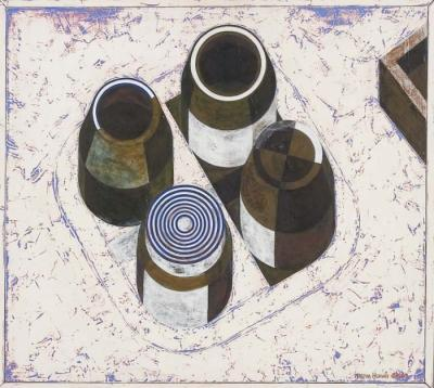 Four Bottles by Martha Horvay