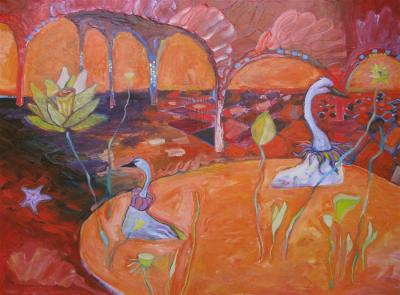 The Queens Muted Swans by Wendy Jane Bantam