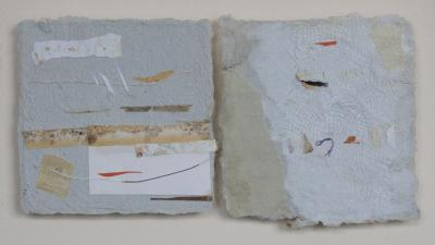 Orange Crossing and Small Collage by David McLeod