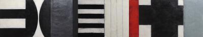 Black + White Stanza by Graceann Warn
