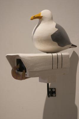 Seagull and Starfish on Surveillance Camera by Iggy Sumnik
