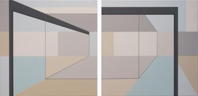 Neutra Abstract Nos. 1 and 2 by Barbara McCuen