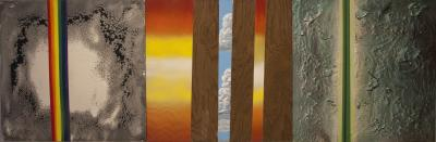 Example of Group of 3 Chemical Reaction Paintings by Brent Witters