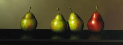 Red and Green Pears by Clifford T. Bailey