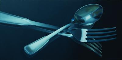 Fork Spoon Times Two by Merrill Peterson