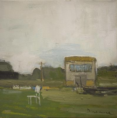 Trailer with Chair by Stephen Dinsmore