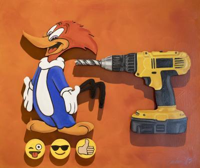Woody Woodpecker vs. Drill by Bob Culver