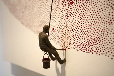 Dots (detail image) by Jamie Burmeister