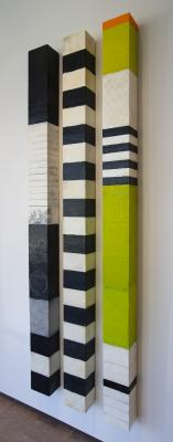 Black, White & Chartreuse Wall Columns by Graceann Warn