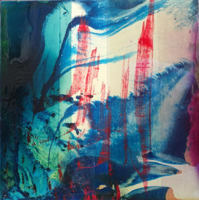 Chemical Reaction Painting No. 52 by Brent Witters