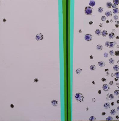 Chemical Reaction Painting No. 54 by Brent Witters