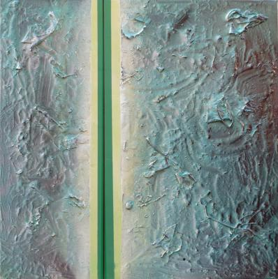 Chemical Reaction Painting No. 55 by Brent Witters
