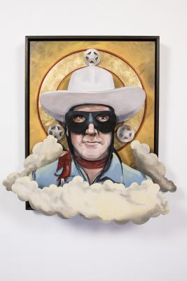 All Of My Heroes Have Been Cowboys: Portrait of Clayton Moore as The Lone Ranger by Bob Culver
