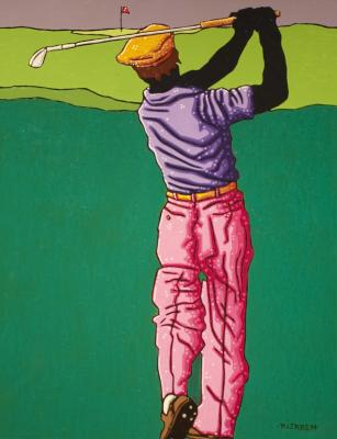Golfer Study No.2 by Tom Rierden