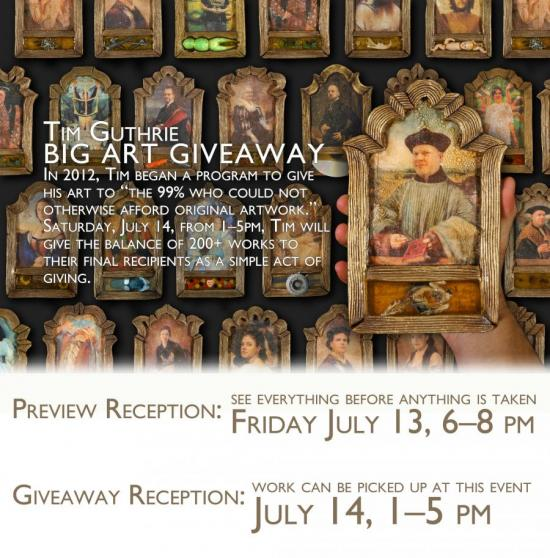 Preview Reception Friday July 13; Giveaway Event Saturday July 14, 1-5 pm