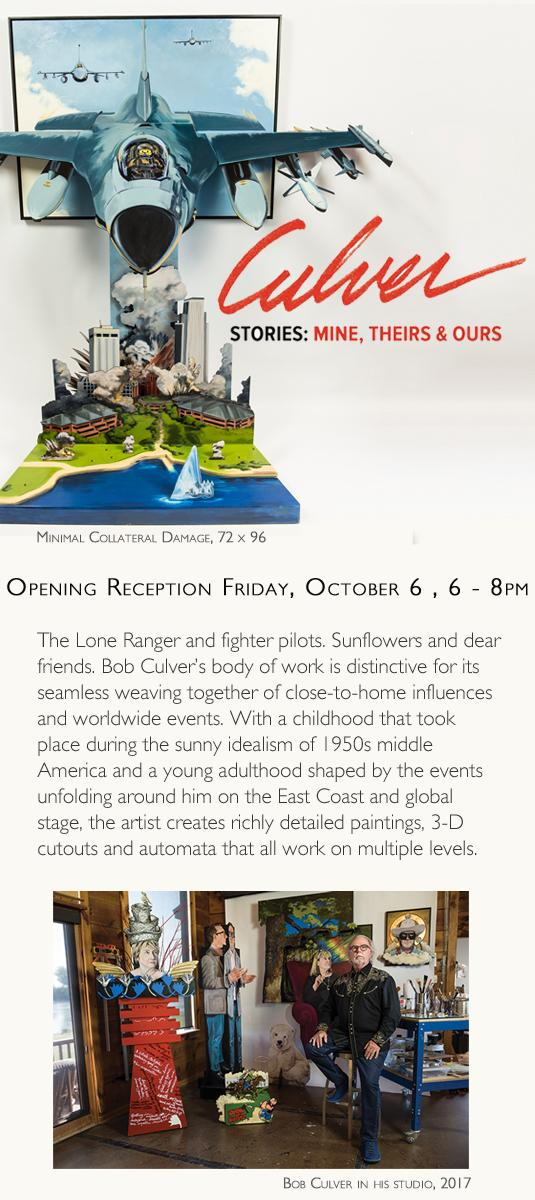 Stories: Mine, Theirs & Ours - new work by Bob Culver