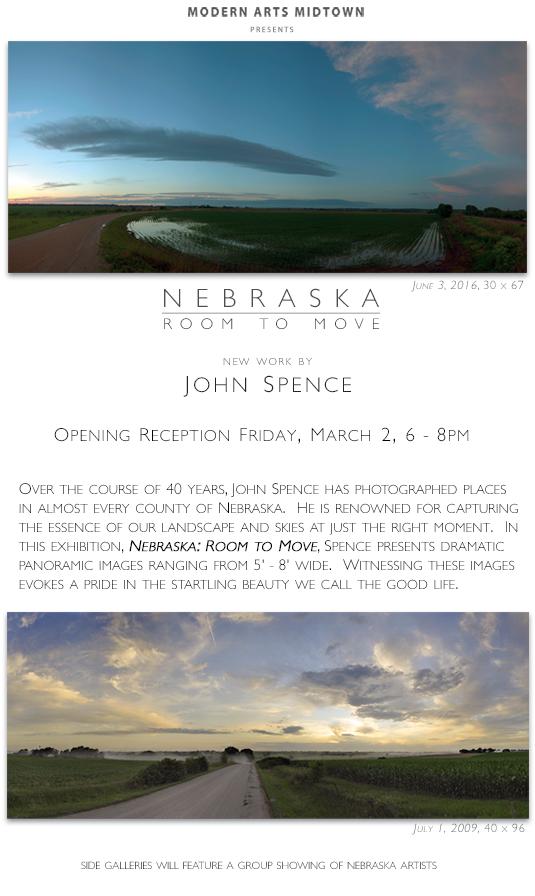 Nebraska: Room to Move, new work by John Spence